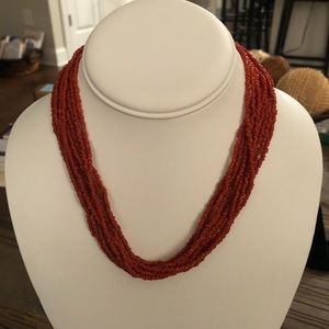 Silpada Vintage Coral Multi Strand Necklace